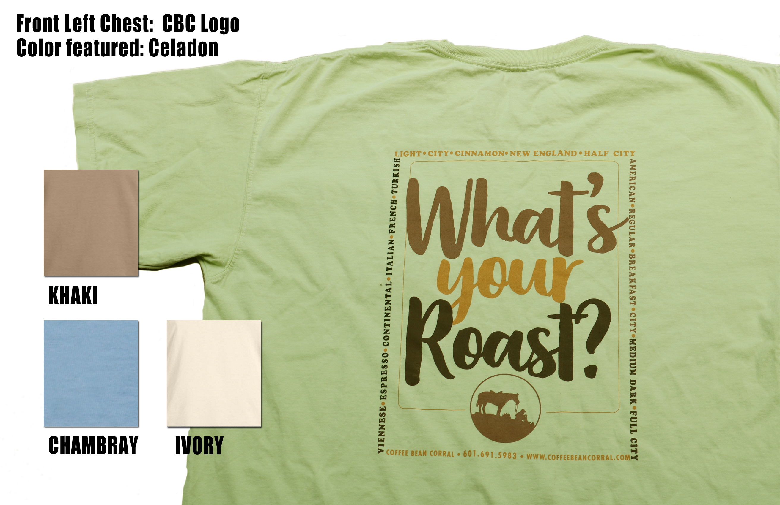 "CBC Logo ""What's your Roast""  T-Shirts"