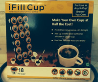I Fill  Cups (Reusable K-Cups) 18/ box Ifillcups