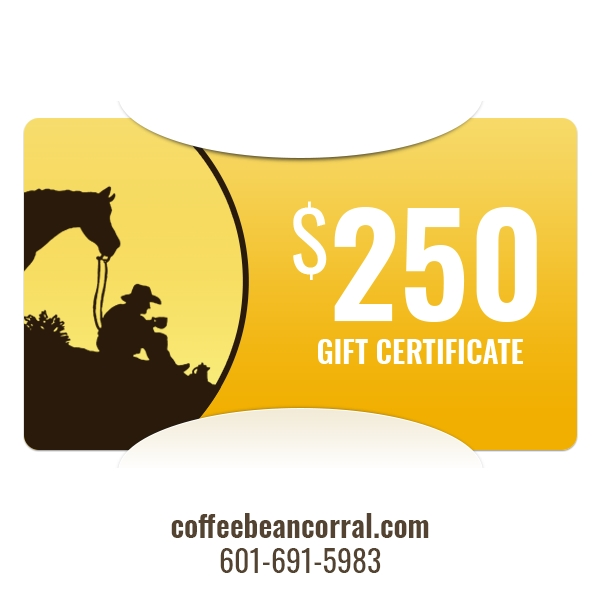 $250 Gift Certificate GIFTCERTS250