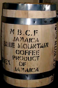 Jamaica Blue Mountain 30 KG Wood Barrel JBMTN30KGBARREL